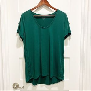ATHLETA Emerald Green Scoop-Neck T-shirt